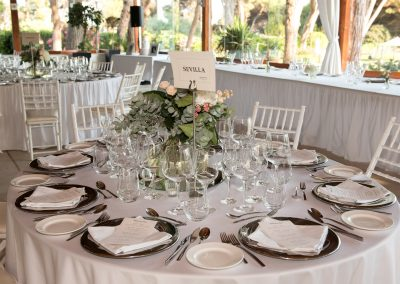 Wedding table decor Don Pepe Marbella